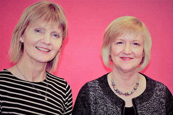 Mrs Bernie Farrell and Mrs Margaret Hannon